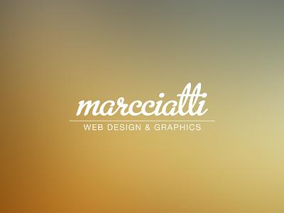 Marcciatti Personal Identity / Self Branding marcciatti logo personal identity self branding