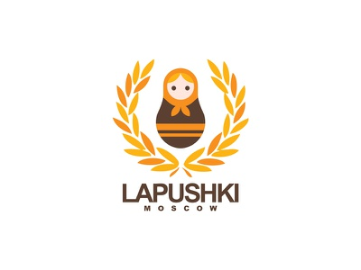 Logo - Lapushki  (Shoe Brand) logo lapushki brand orange brown