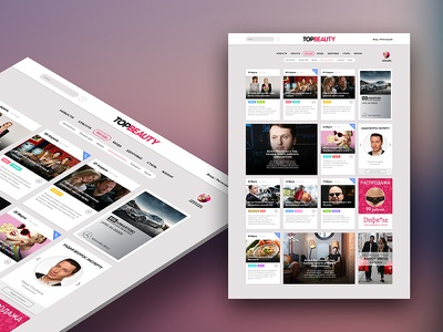 Concept TopBeauty News Site marcciatti news concept site