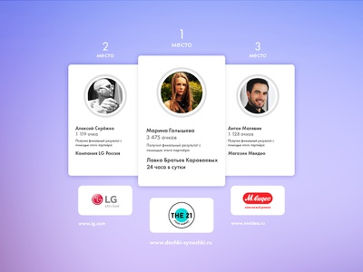 TW user cards & company badges flat users cards ux ui