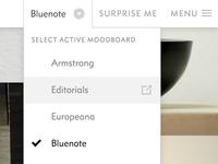 Select active moodboard