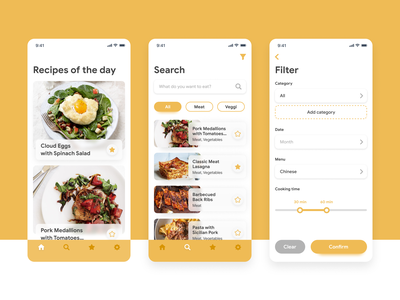 Cooking app cook yellow design ios ui app
