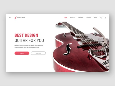 Guitar Store xd site music red guitar shope store web