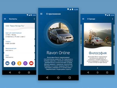 Concept App - Ravon ux ui car store concept ravon blue shop app android