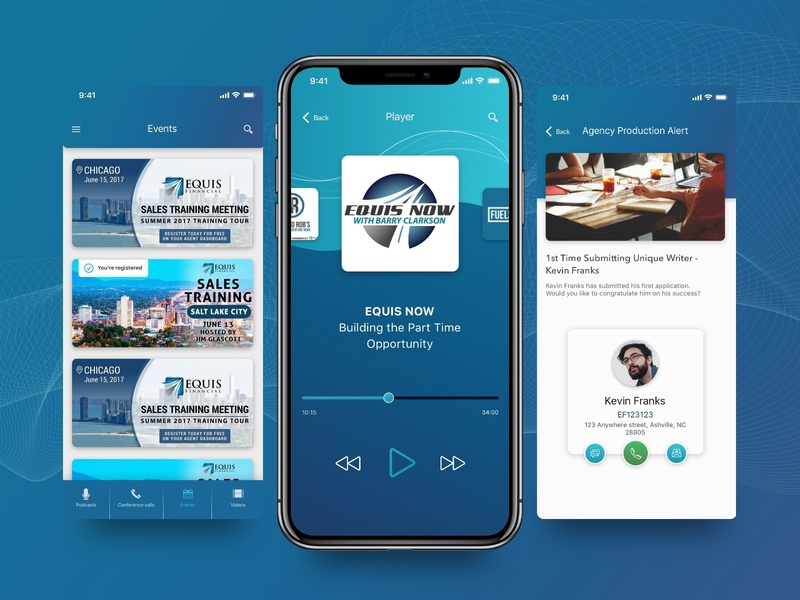 Equis Financial blue player finance app business android ios mobile finance app financial