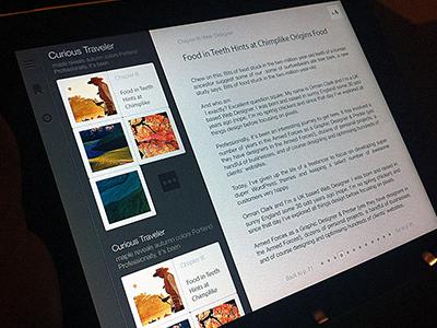 Ipad app for multimedia content.