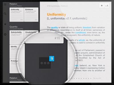 Thesaurus ipad app (not retina)   thesaurus ipad app ui