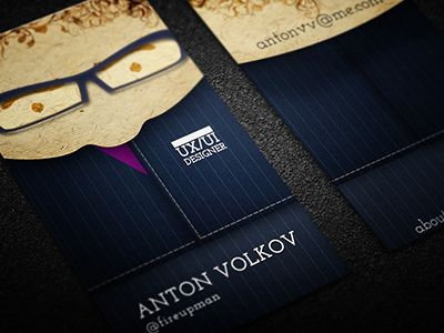 Personal Business Cards (suit)