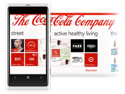 Ideas for Coca-Cola App for the Windows platform