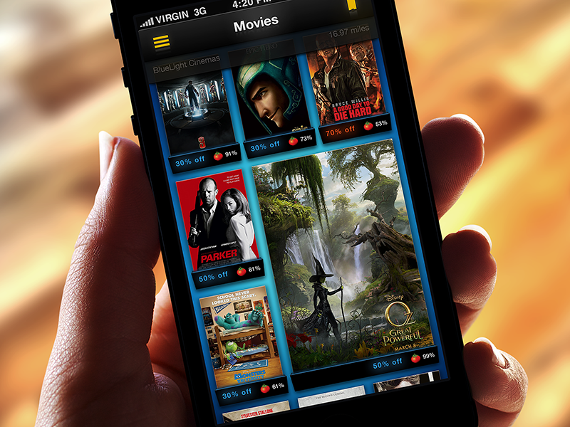 Reinventing Movie Tickets for Mobile ui app iphone movie ticket