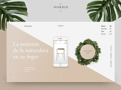 Nordix typography layout landing grid design graphic ratio golden garamond fibonacci nordic furniture