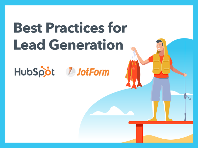 Best Practices for Lead Generation ebook fisherman hubspot crm lead generation hubspot jotform ebook pdf ebook design ebook cover