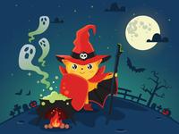 JotForm's mascot Podo is celebrating Halloween...