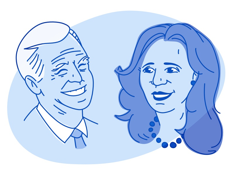 Biden Harris politics election democrat vote 2020 political kamala joe illustration portrait harris biden kamala harris joe bide
