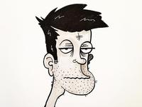 Self Portrait Illustration, Day 5