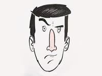 Self Portrait Illustration, Day 11