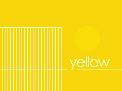 Color & Type: Yellow complimentary primary color typography type yellow