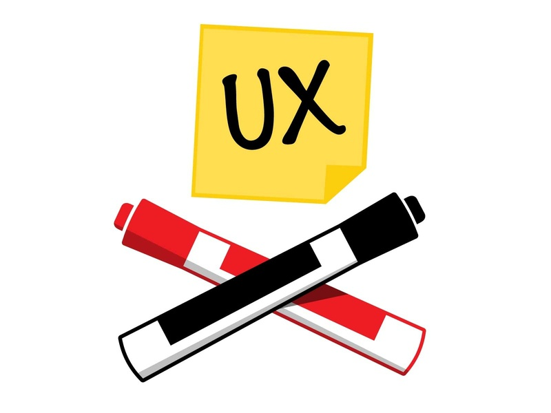 UX Jolly Roger user experience ux skull and crossbones jolly roger sticky note post-it markers whiteboard markers