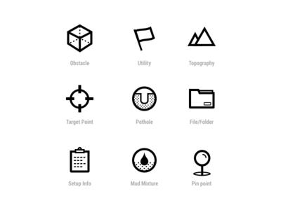 Icon Set app icons pothole pin folder mountains flag cube icon set icons