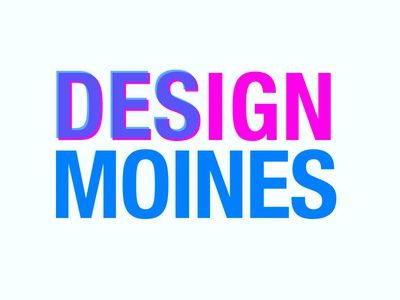 Design Des Moines bold helvetica condensed helvetica cyan magenta typography conference logo des moines design