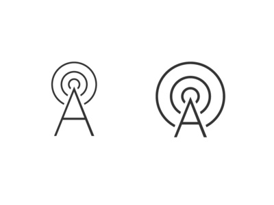 A is for Antenna antenna radio waves wave signal a tower radio