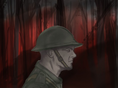 The Battle of Belleau Wood illustraion military battle forest marine world war wwi world war 1 soldier woods wood belleau