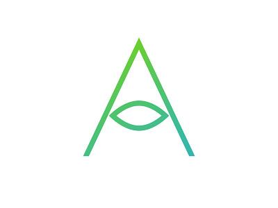 A-nother Logo symbol icon wisdom vision seeing eye mark logo symbol letter