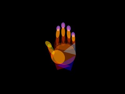 High Five! blending modes experiment colorful palm color illustration hand
