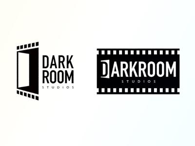 Darkroom Logo studio media graphic production movie film photography darkroom room dark logo