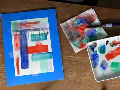 Now On YouTube video rectangle colors goauche painting art abstract youtube