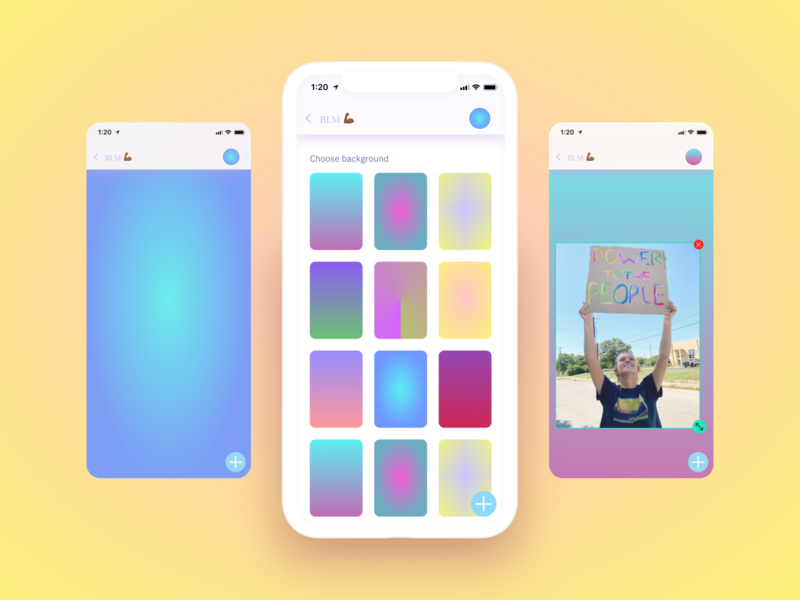 Scrap Web App productdesign iphonex colourful options photo friendships isolation navbar groups features menu bubbles backgrounds colours design mobile app ux ui