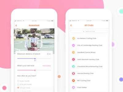 Sport Matching App