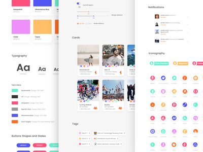 App Design System Freebie app identity palette color typography symbol style guide library component visual system design system ui kit ux ui studio sketch freebie free