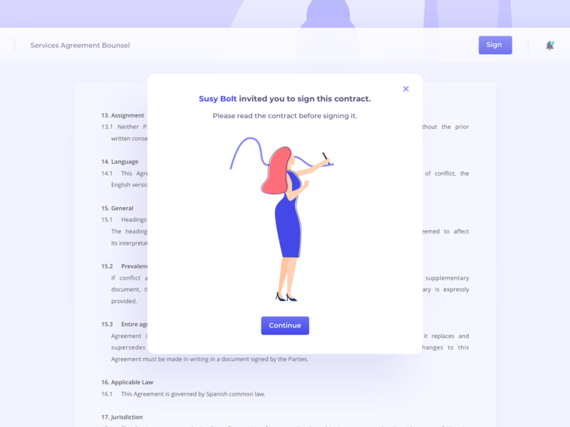 Law Business Platform hero contracts contract sign confirm confirmation read popup lawyer law vector design website business web app ux ui illustration colourful