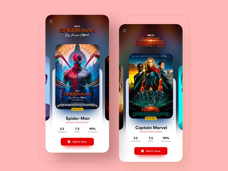 Movie App ux design ux ui design ui watch inspiration online movie watch movie app app ui design app design app