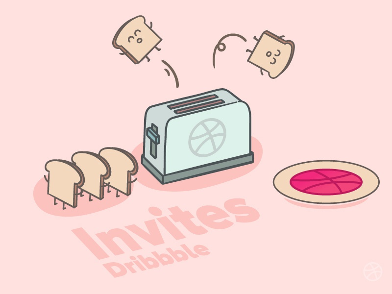 Dribbble Invites breakfast breads toasty giveaway draft basketball invites invite invitations invitation vector dribbble