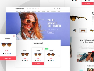 Goggles - Free Ecommerce Template mockup free template fashion goggle website ux ui freebie  free psd ecommerce