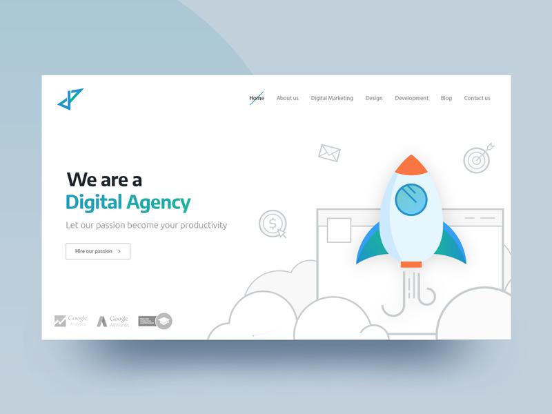 Digital Agency branding agency creative agency graphic design ux ui illustration website web landing page homepage digital agency corporate branding