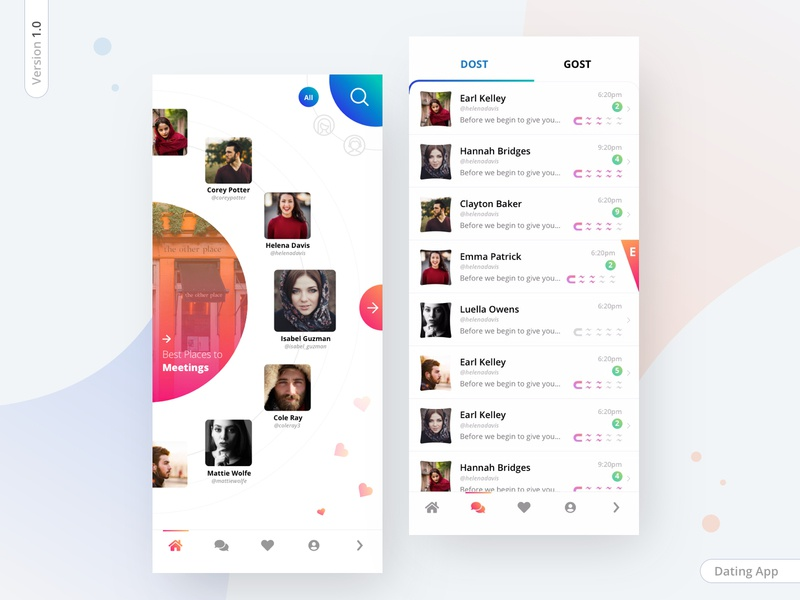 Dating app version 1.0 aamir mansuri iphonex party love minimal interaction list design meeting creativity send chat dashboad network invite friends friend finder dating app dating app