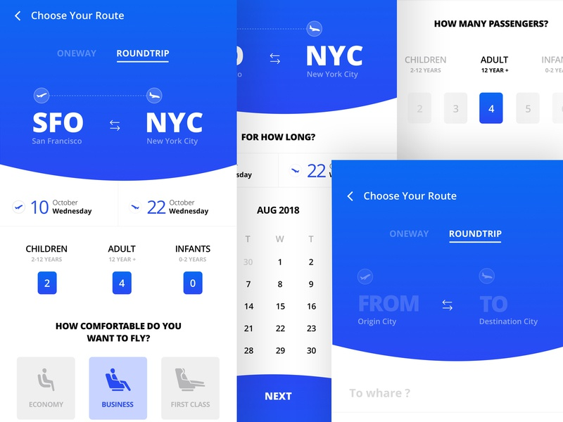Flight Booking Process choose planes seats blue booking form booking system ux ui travel transport tickets mobile ios icons flat app mobile app dashboard checkout booking app