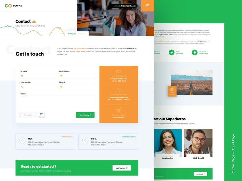 Agency Contact Page contactus web design web vector ux ui sketch pattern minimal logo interface icons flat dribbble design concept clean agency branding app