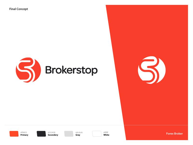 Brokerstop :: Forex Broker broker exploration identity forex logo design wordmark negativespace color palette aamirmansuri branding icon typography logo