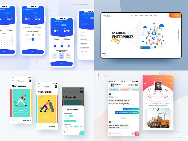 2018 dating app booking flight agency technology health website shots popular 2018 interaction dribbble ux ui aamir mansuri design app