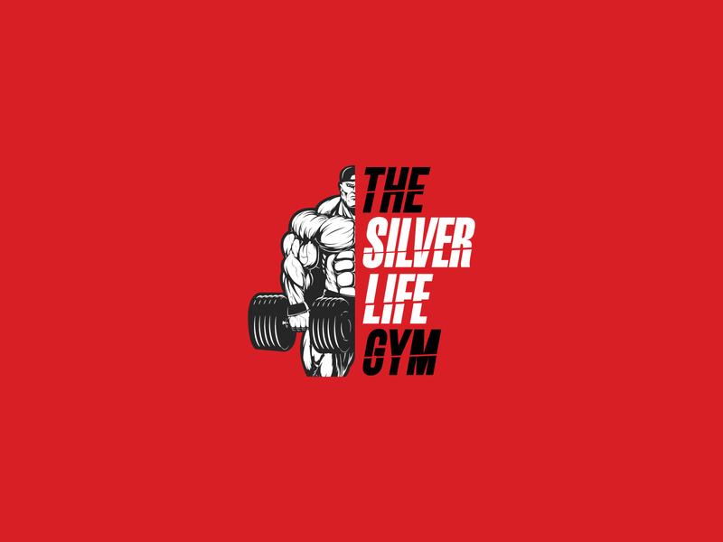 The Silver Life Gym Logo Version 1 vector sketch illustration body type fitness gym logotype logo letters identity font branding