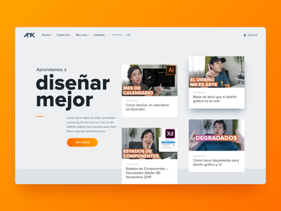 My new site homepage webdesign blog homepage