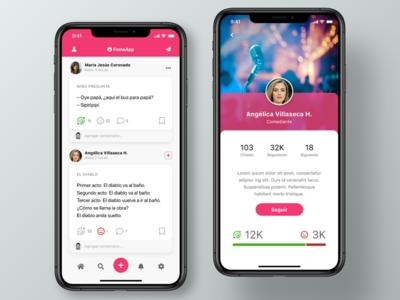 Mobile App for Jokes Social Network social network mobile apps