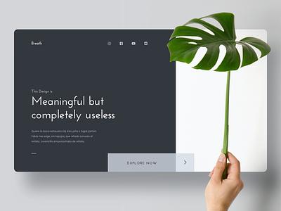 Homepage Concept minimalism minimalist plant website homepage landing page webdesign