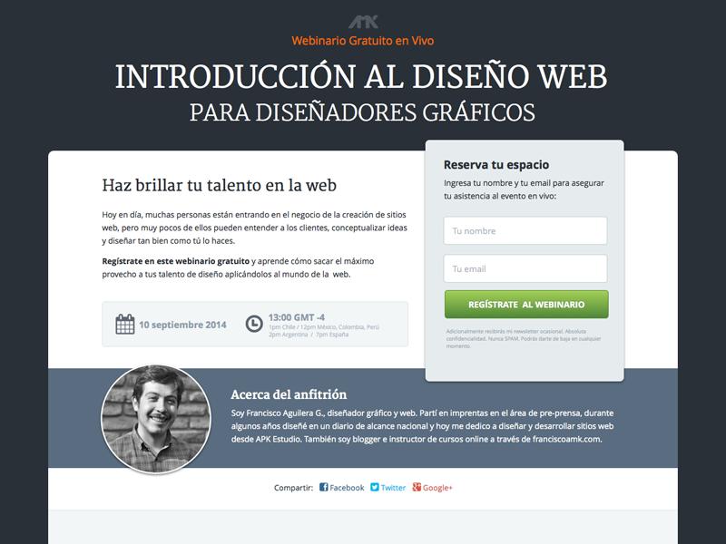 Landing Page Webinar (Free sketch file) sketch landing page freebie