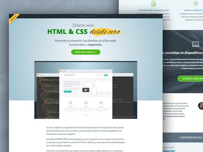 Course landing page website webdesign landing page