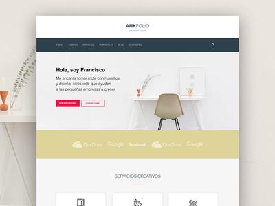 AMK Folio 2.0 webdesign